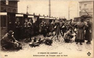 CPA Militaire, Embarquement de Troupes pour le Front (362229)