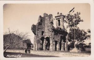 RPPC; Humaitá , Paraguay , 10-30s Flag pole & fort ruins