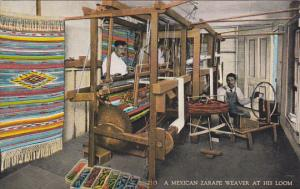 Mexican Zarape Weaver At His Loom Curteich