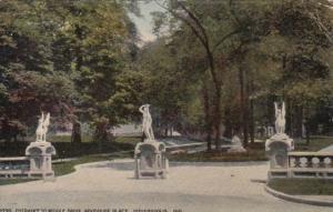 Indiana Indianapolis Entrance To Middle Drive Woodruff Place 1912
