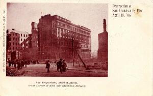 CA - San Francisco. April 1906 Earthquake & Fire. The Emporium, Market Street...