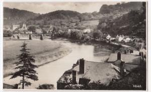 Monmouthshire; Tintern Abbey & Village From River, RP PPC, Unused, By Photochrom