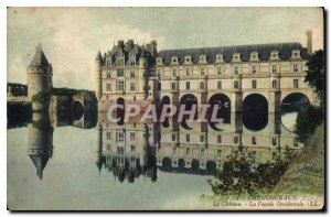 Postcard Old Chateau Chenonceau The West Facade