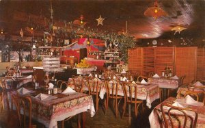 SANTA CRUZ, CA  California   IDEAL FISH RESTAURANT~Interior    Roadside Postcard