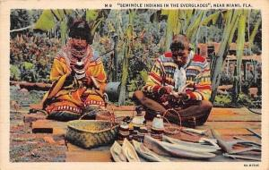 Florida, near Miami Native Traditional Seminole Indians in the Everglades