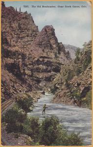Pueblo, Colo., The Old Roadmaster, Clear Creek Canon- Fisherman & RR tracks-1912