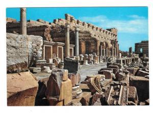 Libya Leptis Magna New Forum Roman Ruins Genah Postcard 4X6
