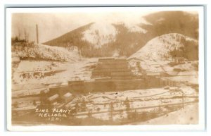 RPPC KELLOGG, ID ~ Mining  ZINC PLANT Shoshone County c1930s-40s Postcard