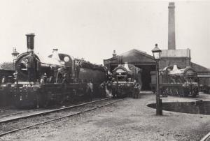 Hitchin Hertfordshire Old Train Railway Yard in Victorian 1865 View RPC Postcard