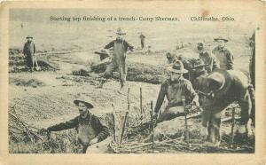 Camp Sherman Trench Corte Scope Chillicothe Ohio 1918 Postcard 1520