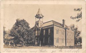 Grundy Center Iowa~Public School~Open Bell Tower~1909 Real Photo Postcard~RPPC