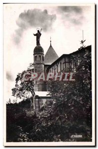 Old Postcard Mont Sainte Odile statue of the Virgin