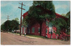 1909 Scranton PA The Club House Building Street Lackawanna Co RARE DB Postcard