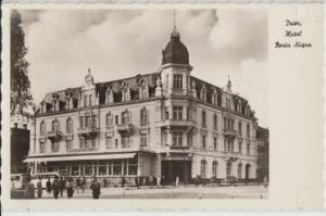 FREIBURG -  theater ... destroyed by bombers in 1945 but rebuilt, 1920s view