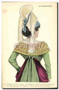 Postcard Old Bayeux Normandy Old Folk Costume Cap
