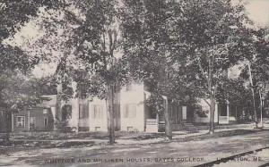 Maine Lewiston Whittier And Milliken Houses Bates College Albertype