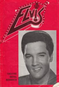 Vince Eager As Elvis Presley Theatre Royal Norwich 1977 Signed Programme