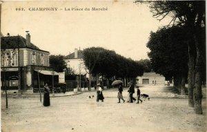 CPA AK CHAMPIGNY Place du Marché (869381)