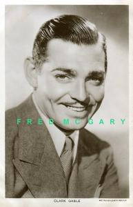 1933 Metro-Goldwyn-Mayer RPPC: Clark Gable, Smiling Portrait