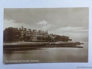 c1920's RP - The Esplanade from the Pier - Greenock
