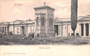 Italy Old Vintage Antique Post Card Camposanto Bologna Unused