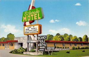 Youngstown~El Dorado Motel~Big Arrow Sign~Specials For Families & Salesmen 1950s