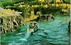 Whitehorse Rapids Schwatka Boat Yukon YT Unused Vintage Postcard F15