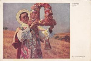 AS; Saint holding an alter, Sierpien Aqut, P. Stachiewicz, 10-20s