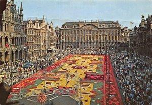 Belgium Brussels Market Place Flower Carpet Postcard