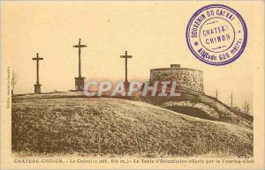 Old Postcard Chateau Chinon Calvary The orientation table offered by the Tour...