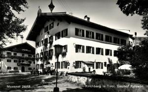 austria, KIRCHBERG, Tyrol Tirol, Gasthof Kalswirt (1950s) RPPC Postcard