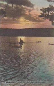 New Hampshire Lake Spofford Moonlight Camp Namaschaug Albertype
