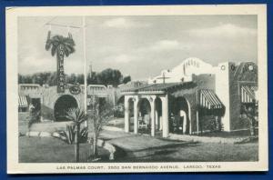Laredo Texas tx Las Palmas Court old postcard