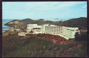 P1489 vintage unused postcard virgin islands usa hilton hotel st thomas