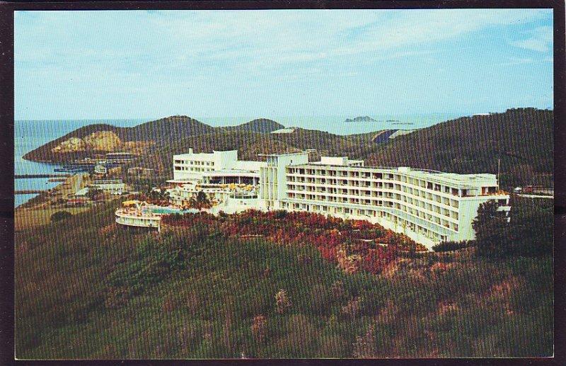P1489 vintage unused postcard virgin islands usa hilton hotel st thomas