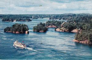 Aerial View, Thousand Islands, THOUSAND ISLANDS, Ontario, 40-60´s