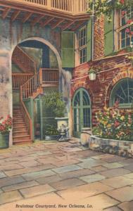 NEW ORLEANS, Louisiana, 1930-40s; Brulatour Courtyard