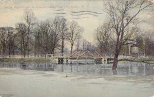 Spring High Water at Genesee Valley Park - Rochester, New York - pm 1913 - DB