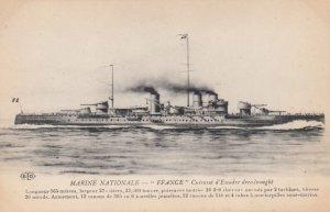 Warship : FRANCE , France , 1900-10s ; Version-2