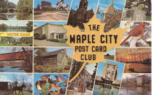 US    PC1007 THE MAPLE CITY POST CARD CLUB-ELKHART, IND