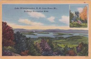 From Rowe Mount Belknap Recreation AreaLake Winnipesaukee New Hampshire 1956