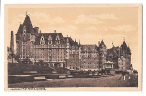 Canada Quebec Chateau Frontenac Vintage Postcard