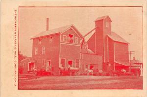 E39/ Cortland Ohio Postcard c1910 Trumbull County Richards & Evans Mill