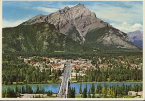 Banff AB Alberta Banff Avenue Stoney Squaw Mtn Banff National Park Postcard