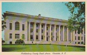 North Carolina Charlotte Mecklenburg County Court House