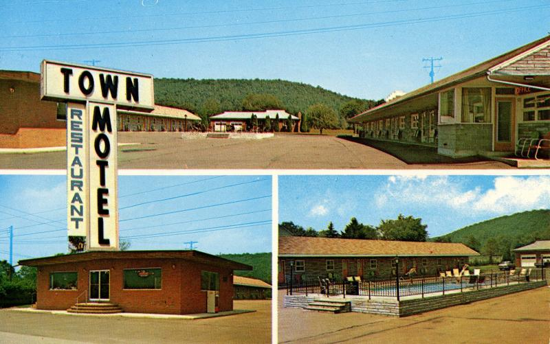 NY - Corning. Town Motel & Restaurant