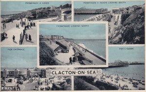 CLACTON, Essex, England, 1930-1950s; Promenade & Sands, Pier