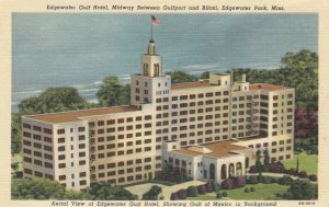 EDGEWATER PARK, Mississippi, 1930-40s; Edgewater Gulf Hotel, Gulf of Mexico