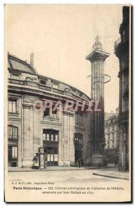 Old Postcard Paris astrological column of Catherine de Medicis