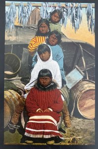 Mint Usa Picture Postcard Native American Indian Five Little Eskimo Sisters